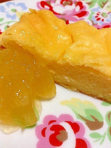 水切りヨーグルトと柚子のヘルシーケーキ