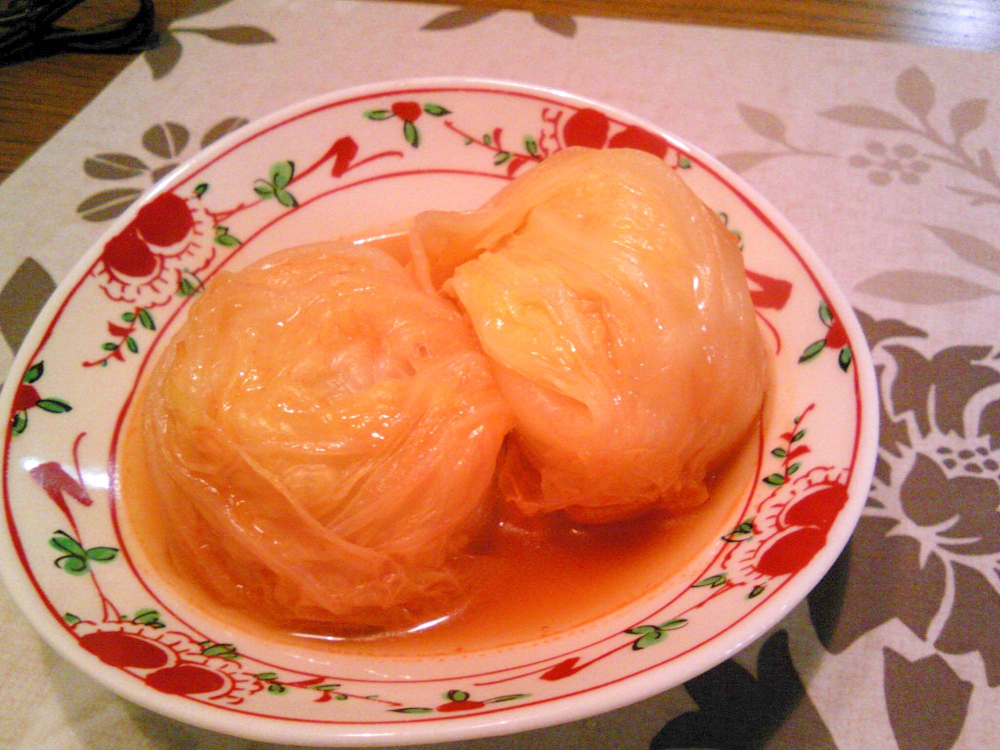 4. 冷凍シュウマイの白菜ロール