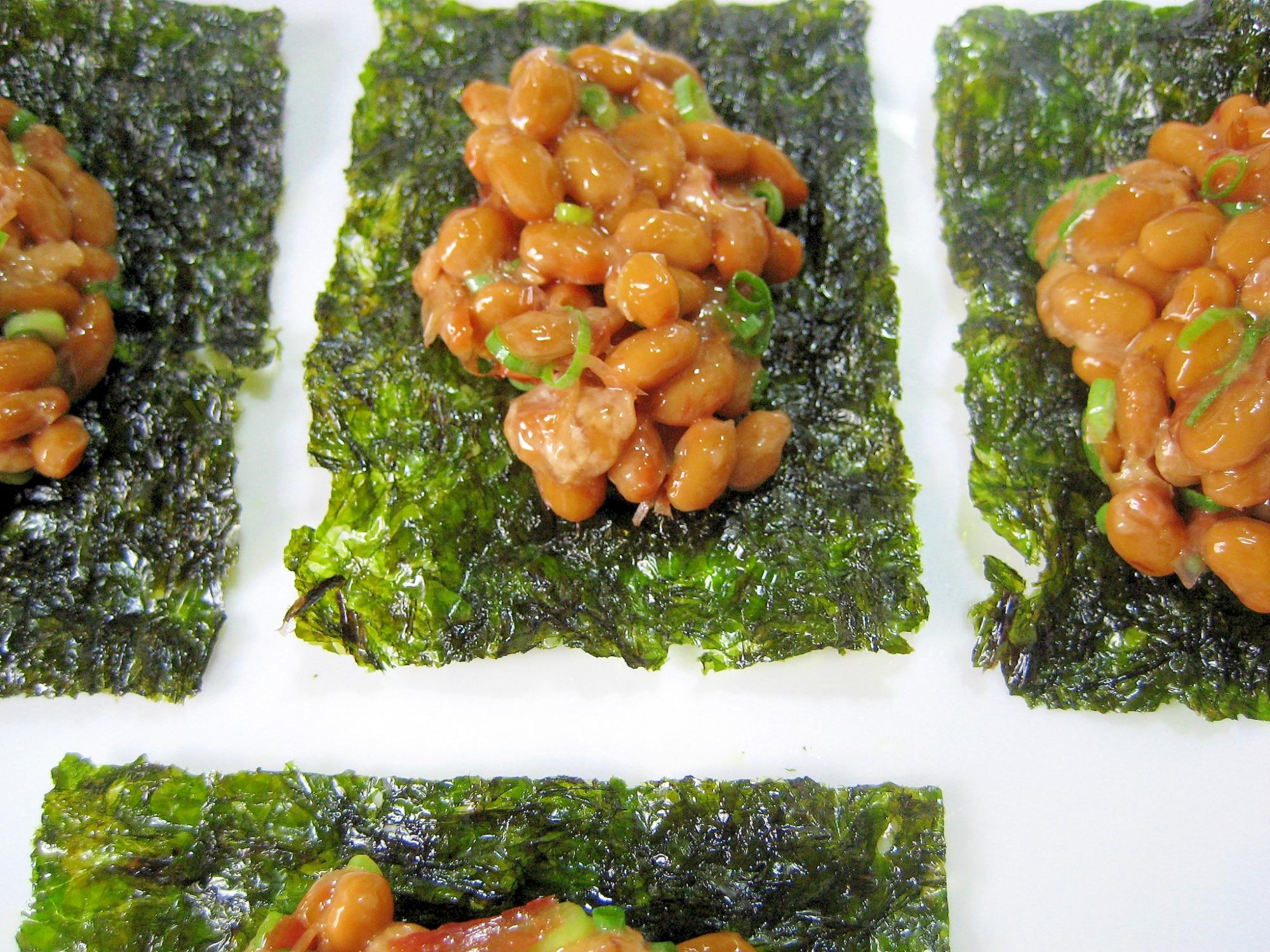 5. 韓国のりと納豆のおつまみ