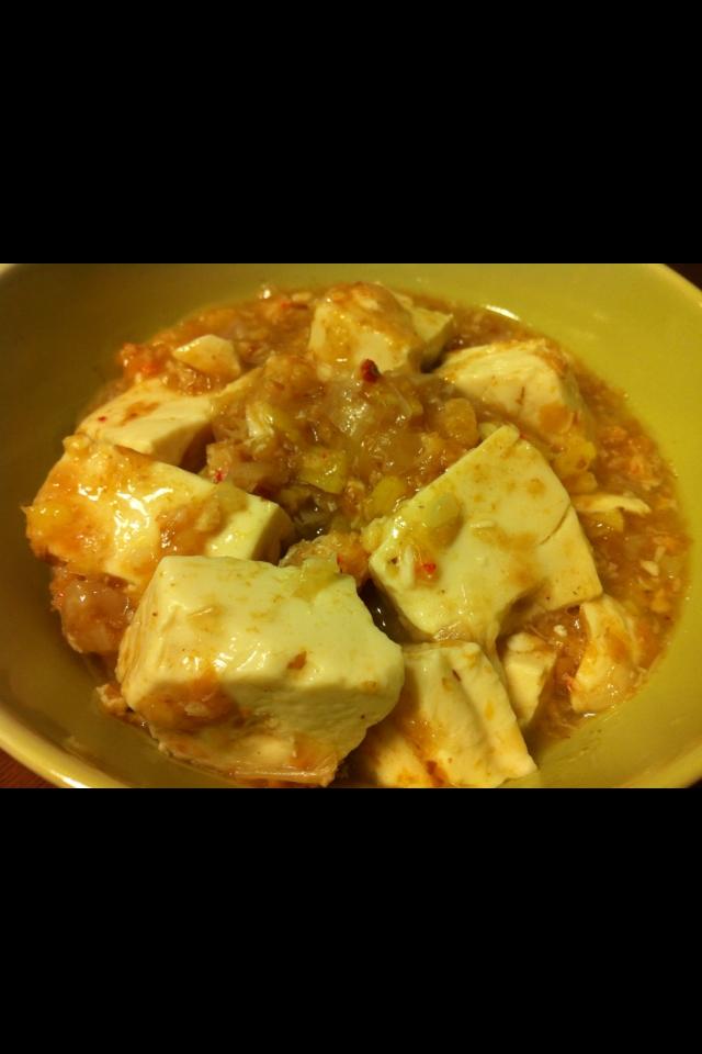 蟹缶と鰹節のあっさり豆腐