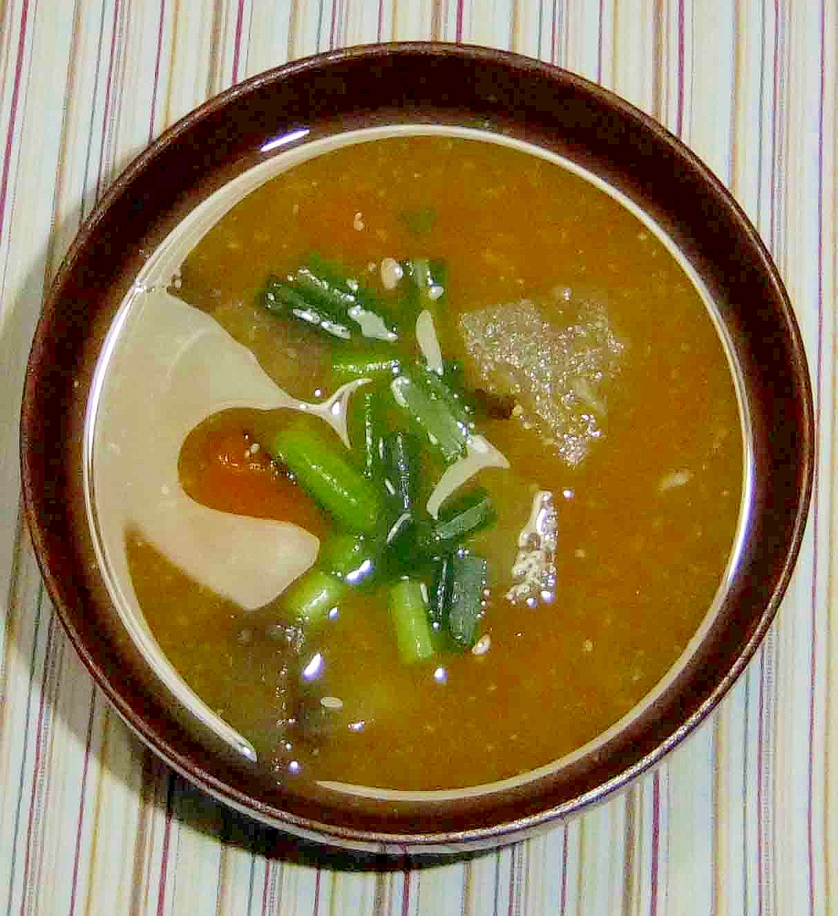 冬瓜と南瓜、茄子の味噌汁