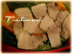 豚バラ肉と蒸し野菜
