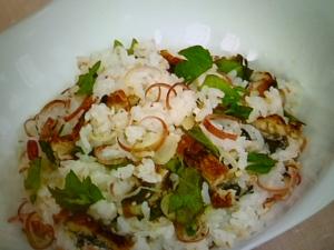 香味野菜入り鰻の混ぜご飯♪