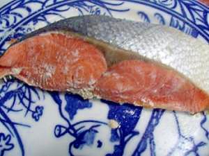 レンジで簡単朝の焼き鮭
