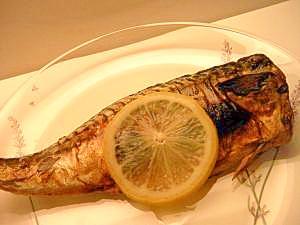 塩サバのマスタードグリル☆レモン果汁で