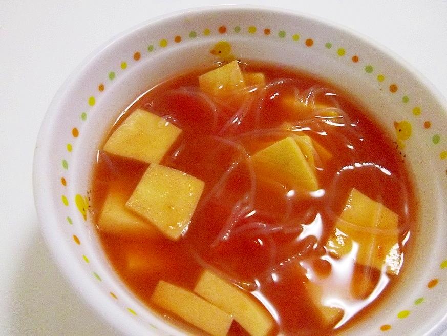 *春雨と高野豆腐のトマトコンソメスープ*