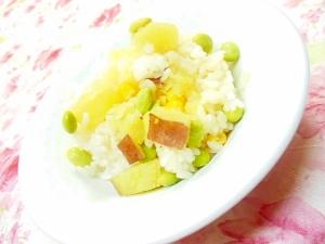 ❤薩摩芋とコーンと枝豆のにんにく・生姜ピラフ❤ ❤薩摩芋とコーンと枝豆のにんにく・生姜ピラフ❤