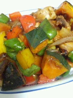 メカジキとカラフル野菜のオイスターソース焼き