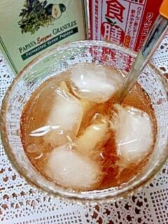 アイス☆パパイヤ酵素&デーツ酢のフレーバーティー♪