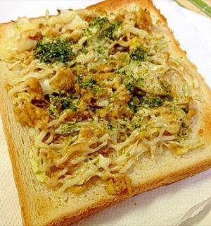 ナントナクお好み焼き風トースト