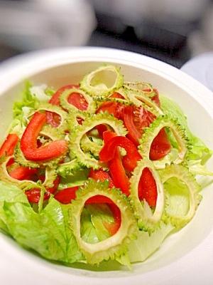 ゴーヤチップスサラダ