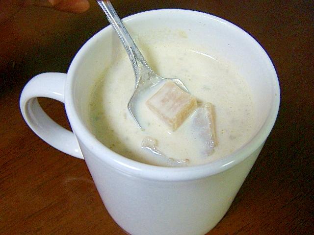 お夜食に♪芋青汁ホット豆乳