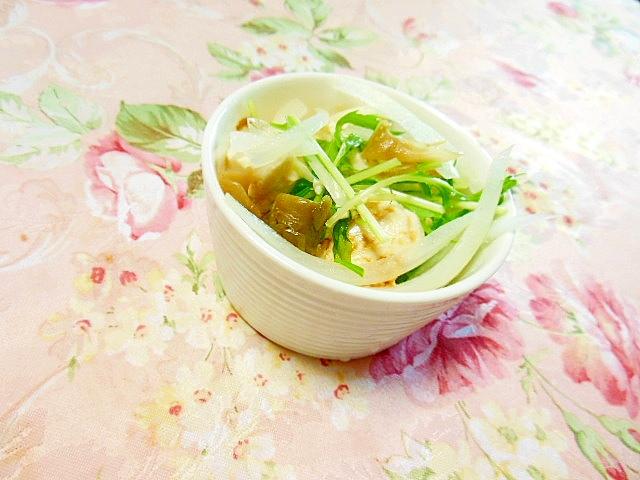 おぼろ豆腐de❤玉葱&水菜&ザーサイの白だし生姜❤