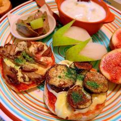 グリル秋野菜のピザマヨマフィントースト