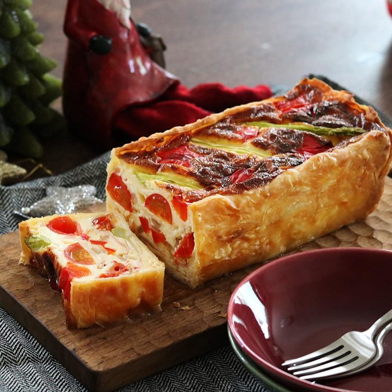 【副菜】ケーキみたいなカラフルキッシュ
