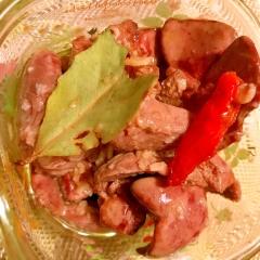 鶏レバーのこっくりオイル煮