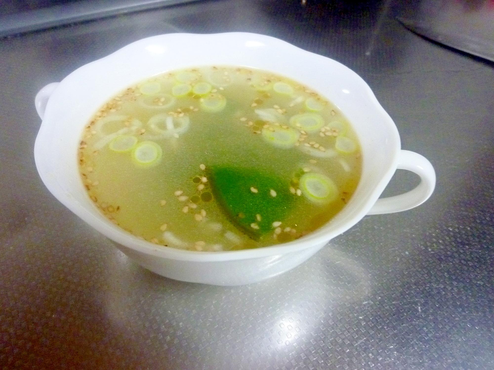 簡単めかぶの中華スープ レシピ・作り方