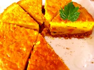 ほくほくかぼちゃのチーズケーキで子供も大人も喜び