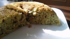 炊飯器とホットケーキミックスで作るバナナ青汁ケーキ