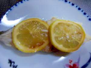 カラスカレイのレモン焼き