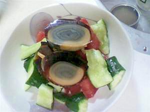 ピータンと生野菜のサラダ