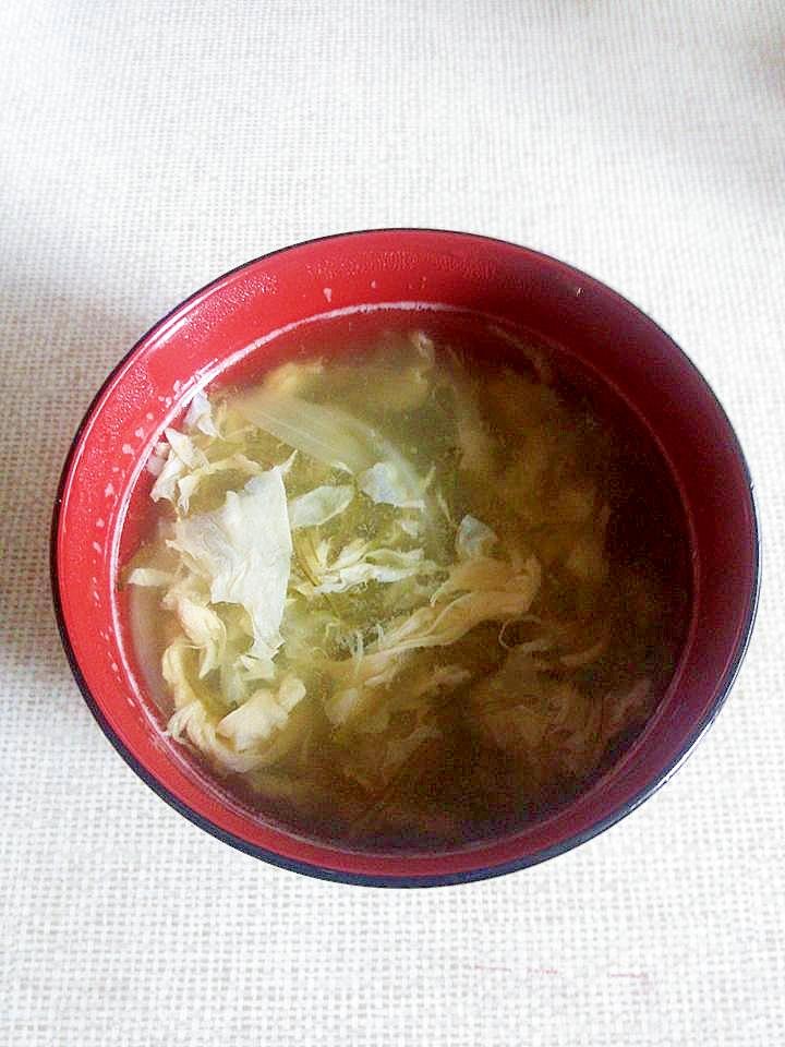 めかぶの卵スープ レシピ・作り方