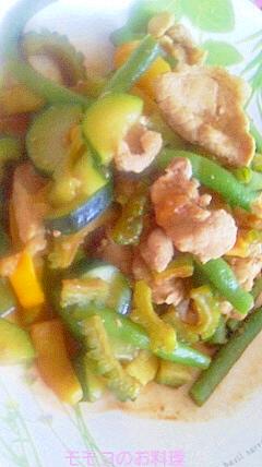 お野菜いっぱい豚モモ肉炒め
