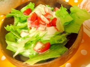 カニカマ サラダ レタス