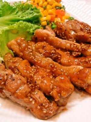 鶏もも肉の胡麻醤油ソテー レシピ・作り方
