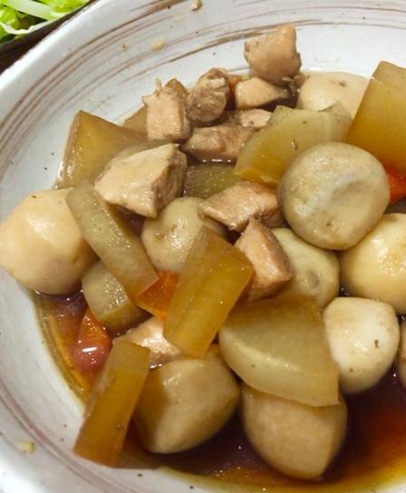 里芋と大根の煮物 レシピ・作り方