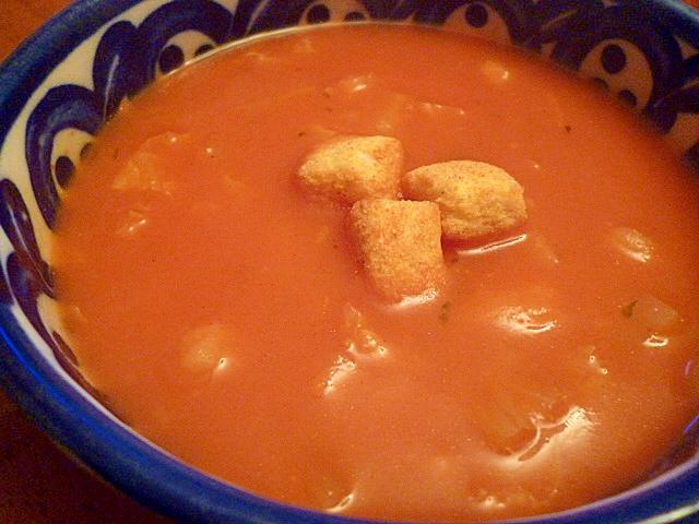カップスープで☆トマトジュース入りポタージュスープ