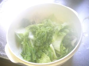 レンジで簡単蒸し料理・白菜と豚肉のミルフィーユ