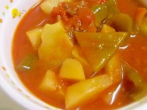 ほっこり♪じゃがいものトマトスープ