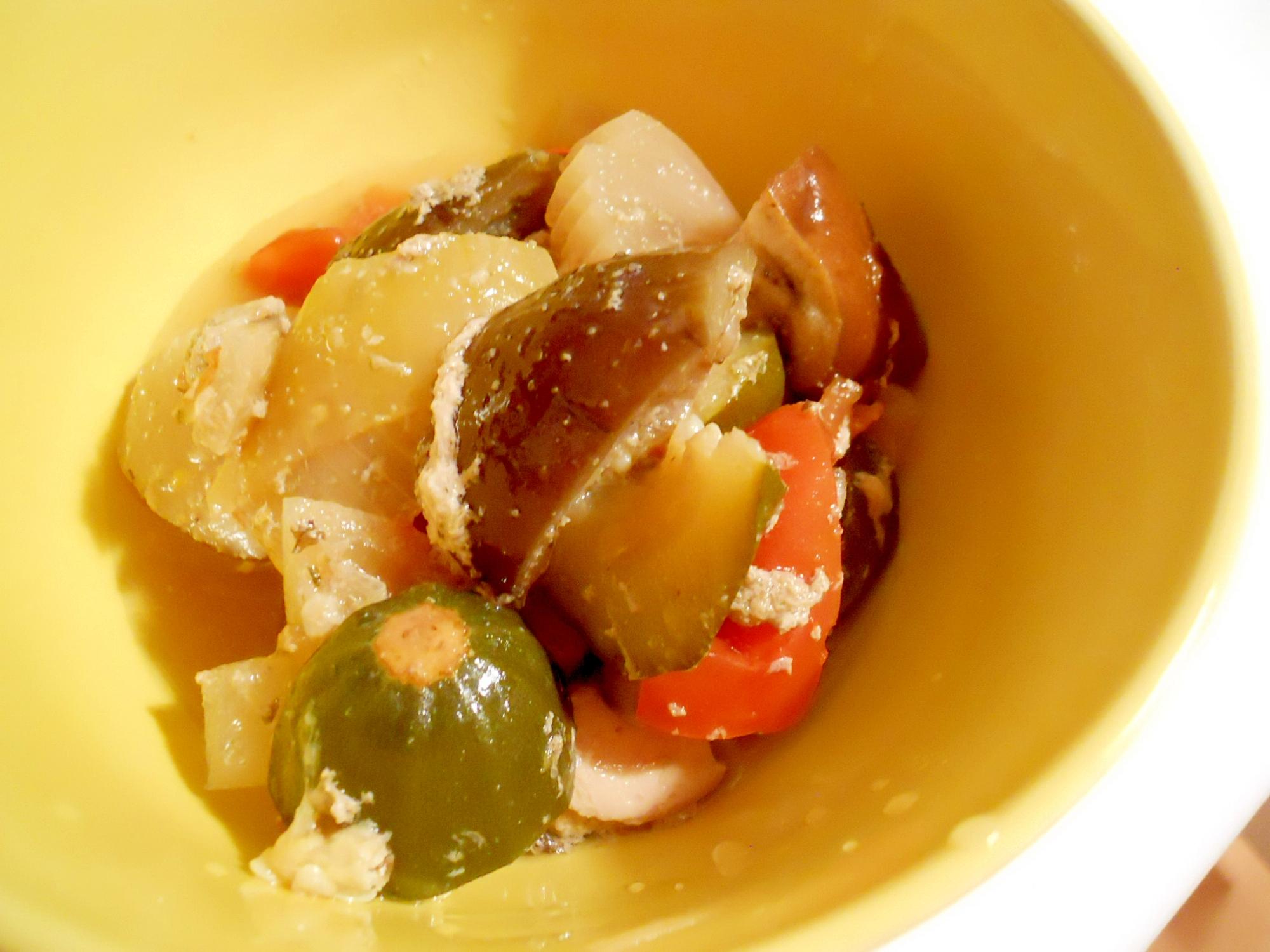 ルクルーゼで☆野菜と鶏肉