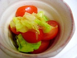 ミニトマトとキャベツのさっぱり和え物