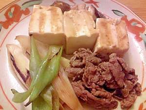 カロリーオフの肉豆腐