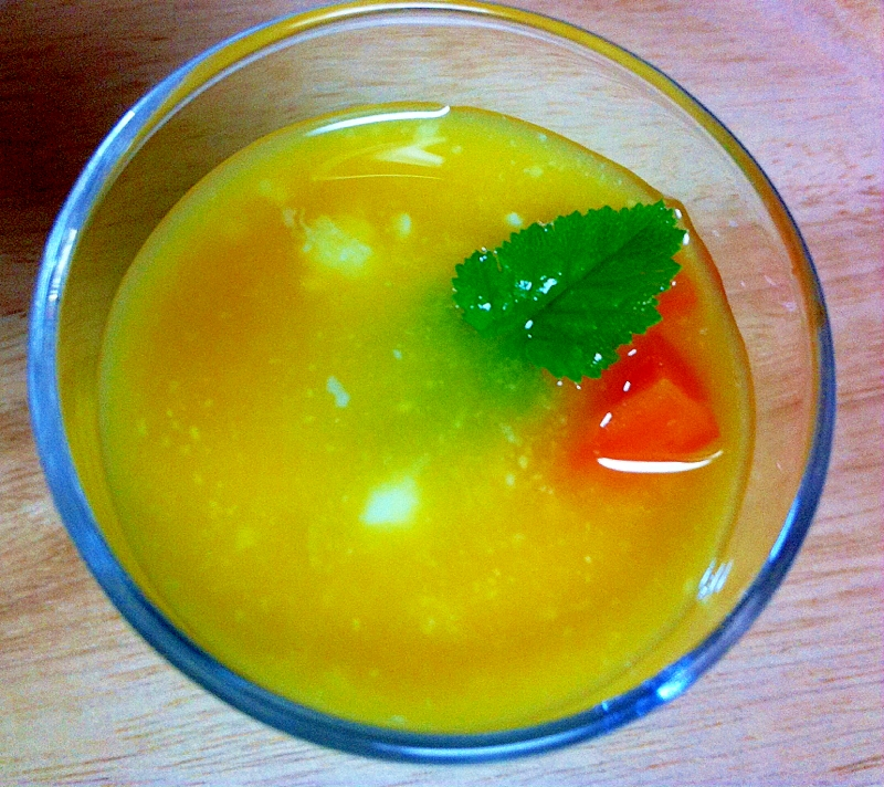 オレンジジュースで
