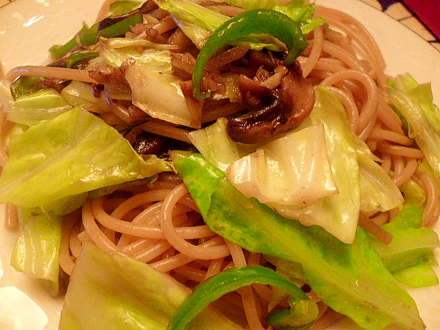 たっぷり生姜と野菜のダイエットパスタ