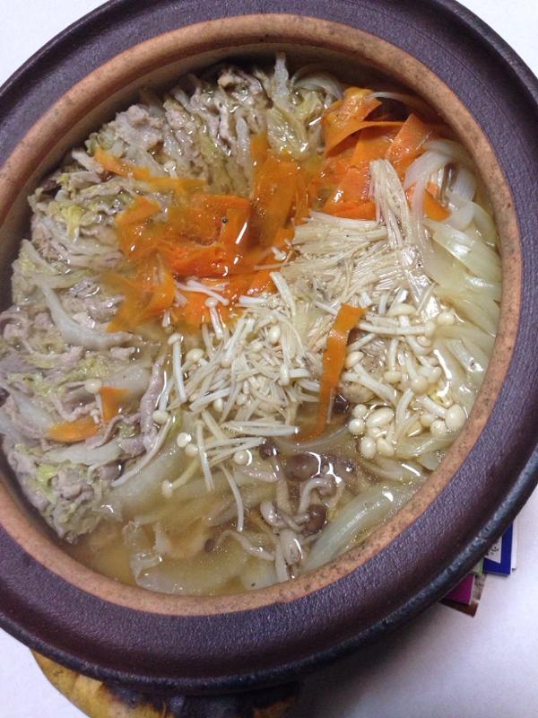 白菜&豚肉&きのこ鍋