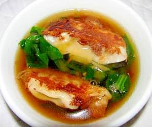 焼き餃子スープ