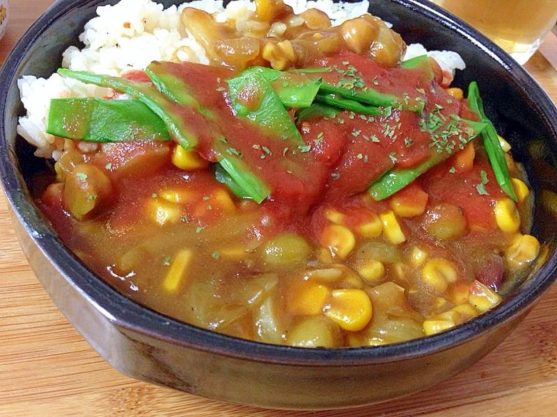 簡単お豆カレー