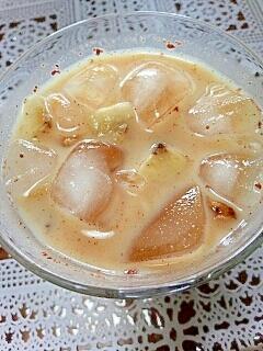 アイス☆バナナ&くるみのシナモンきなこミルク♪