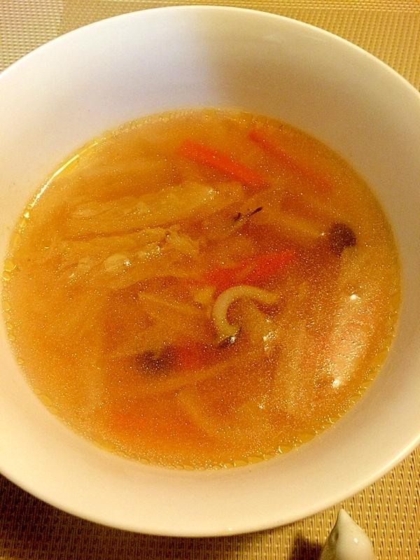 風邪に負けない☆ぽかぽか生姜スープ