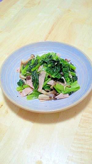 ちぢみ小松菜のオリーブ油炒め