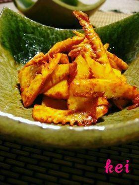筍のピリ辛炒め。