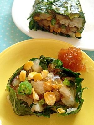 夏野菜と白身魚(たら)のテリーヌ♪