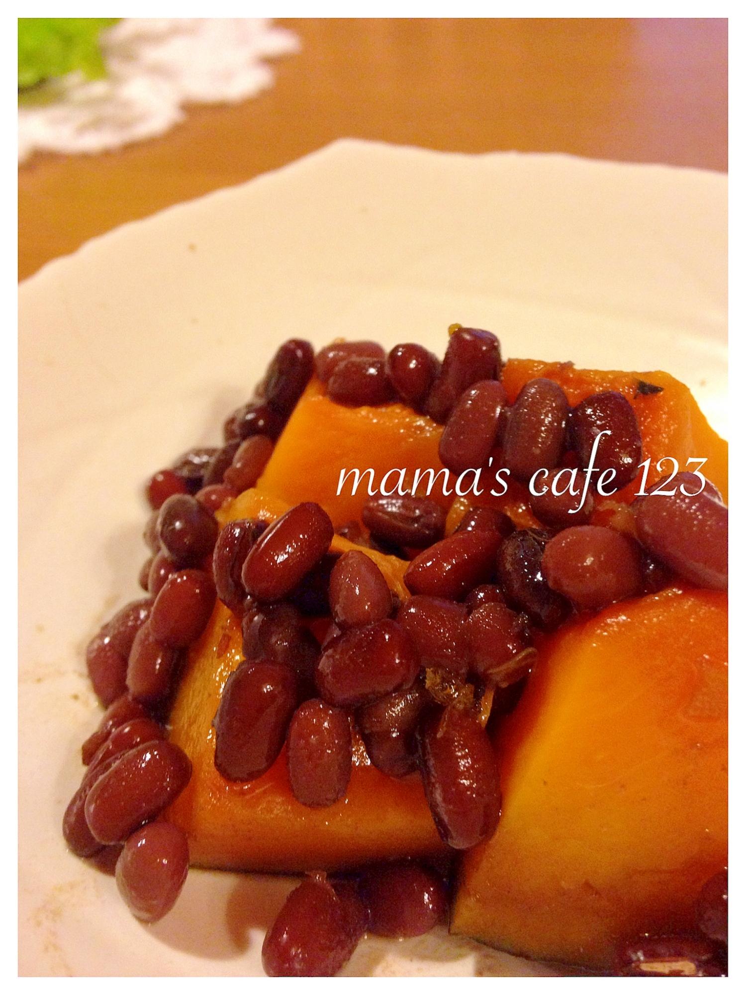お弁当にも♪圧力鍋で簡単♪ほっこりかぼちゃの小豆煮