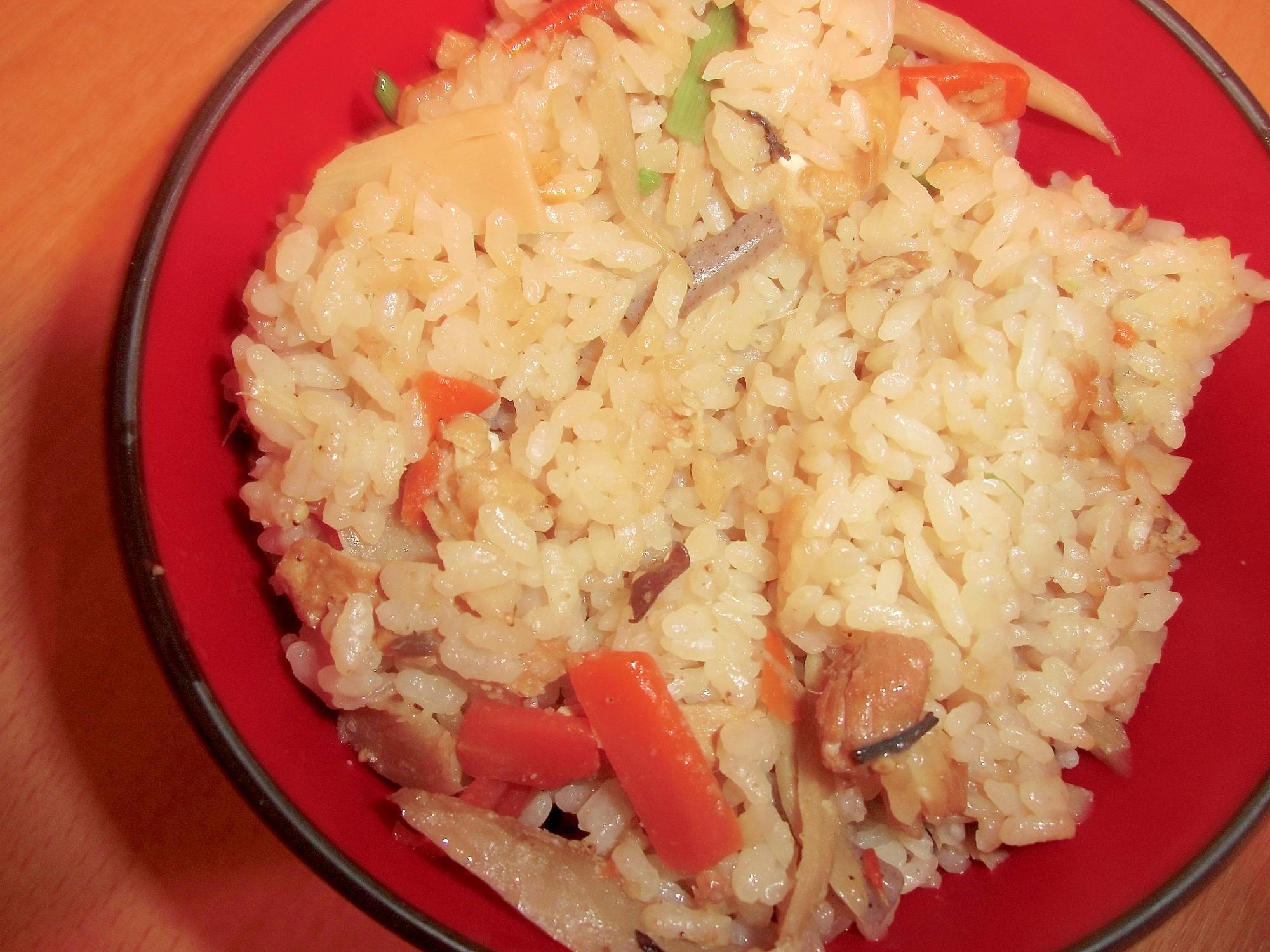 マヨ鶏五目炊き込みご飯