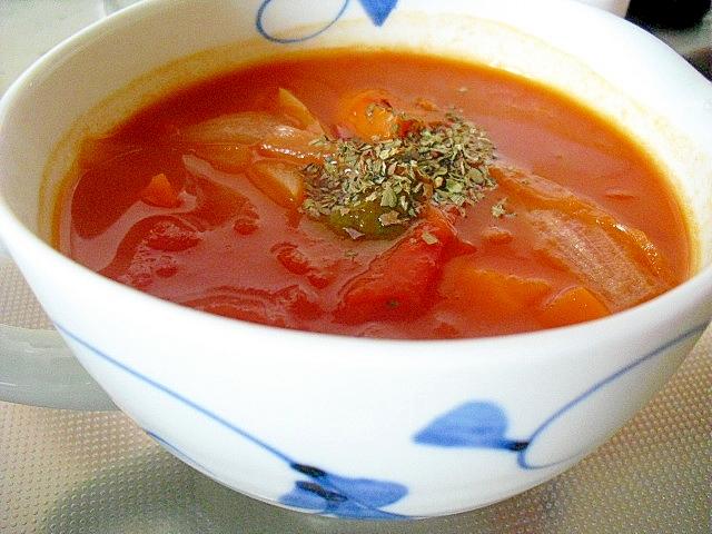 3. 簡単なのに本格的「たっぷりトマトスープ」