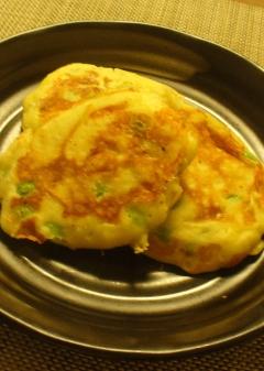 枝豆とチーズのおつまみホットケーキ